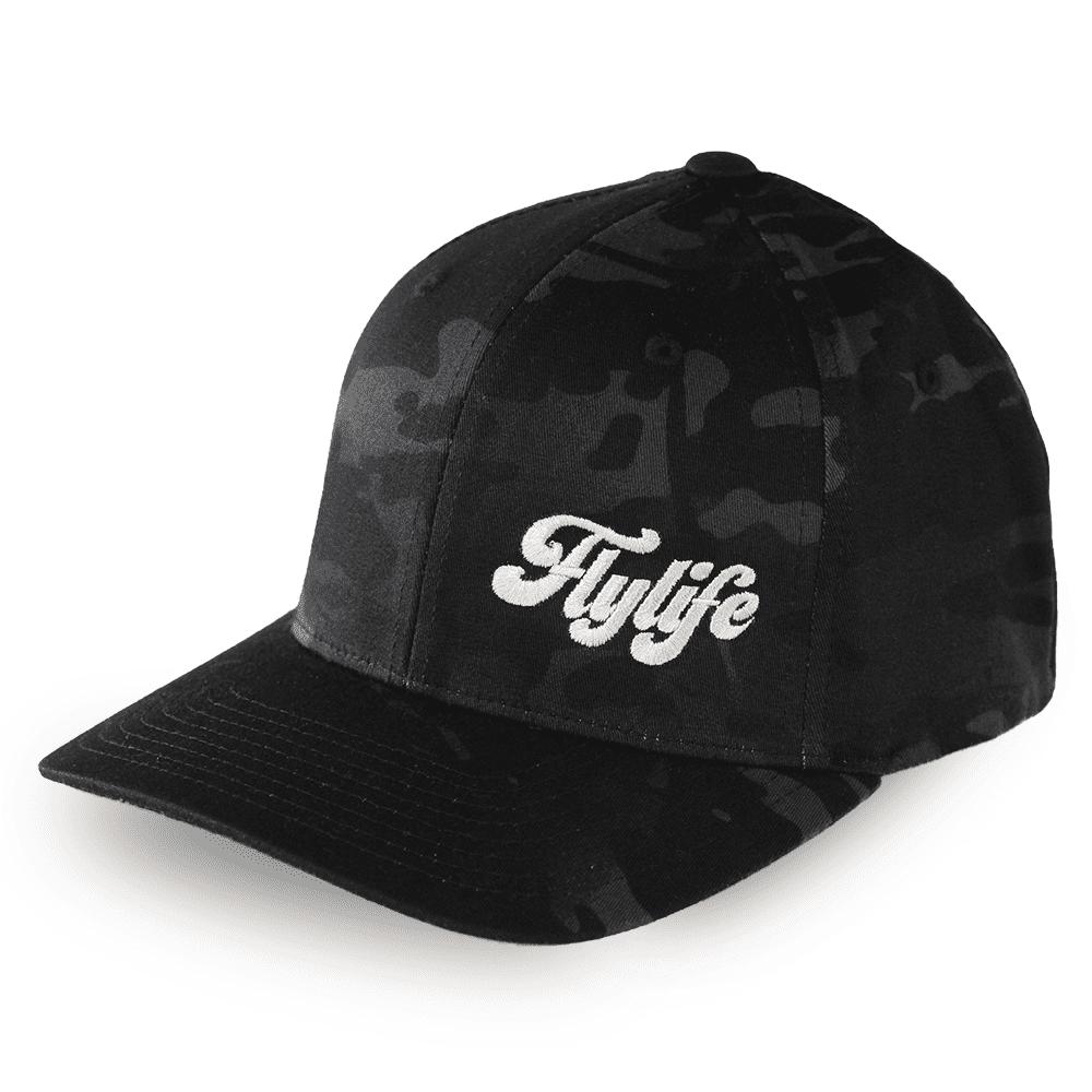 c2bac5750a3 FlyLife Black Camo Flexfit Cap – FlyLife Magazine